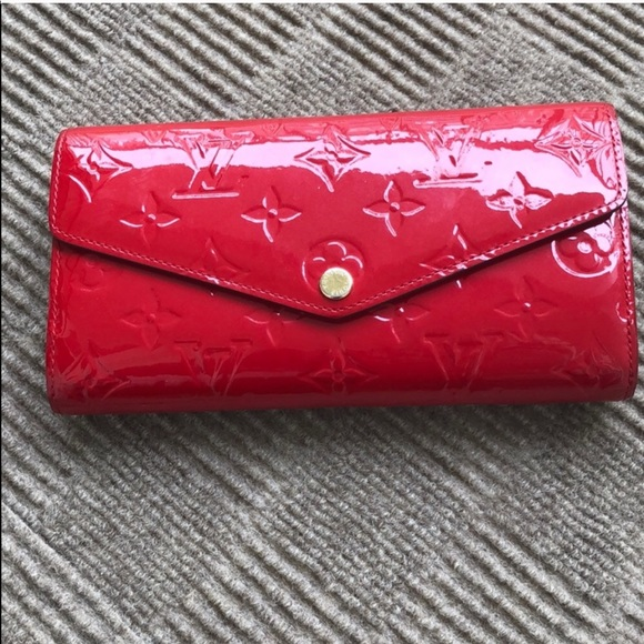 Louis Vuitton Handbags - Louis Vuitton red patent leather wallet